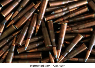 a pile of ammunition stocked up for war