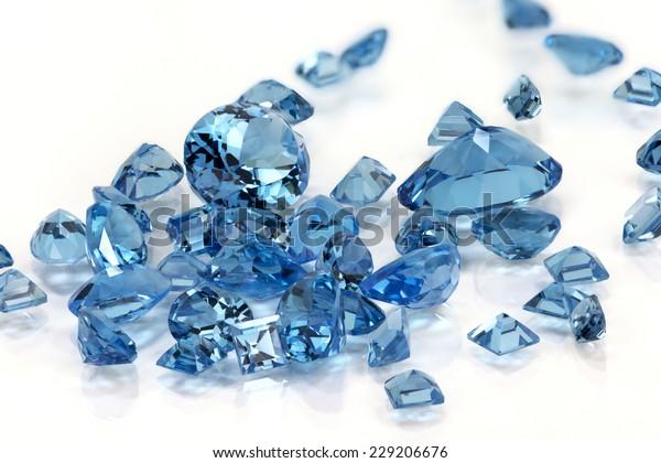 Pile of Aquamarine or Topaz