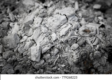 Pile of ashes after the fire went out. Ash texture.Burned out ashes grunge texture