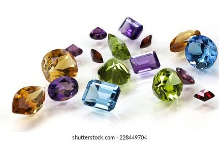Pile of Assorted Gemstones