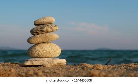 Pile of balancing stones