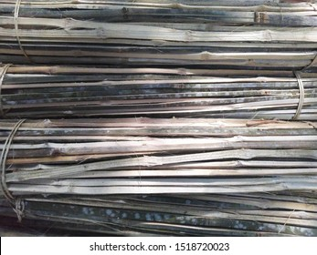 A pile of bamboo stick from java indonesian