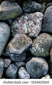 Pile of beautiful rocks