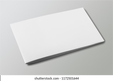 Pile of blank paper on wooden table