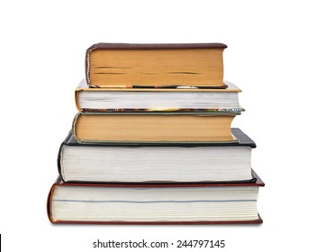 Pile of Books isolated over white background