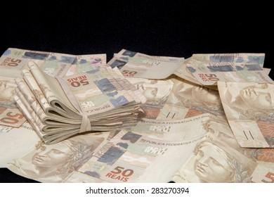 Pile of brazilian money