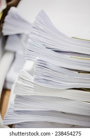 Pile of business paper file