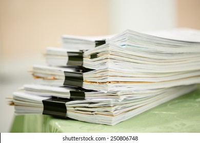 Pile of business paper files