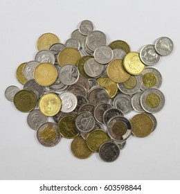 A pile of Canadian Money