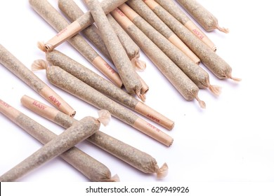 Pile de Cannabis joint un dispensaire de marijuana thérapeutique