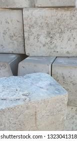 pile of cement bricks