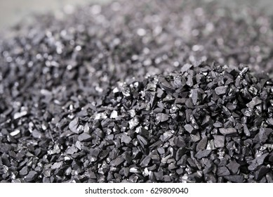 Pile of charcoal or coal carbon for background
