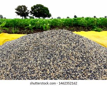 Pile of chemical fertilizer. nitrogen, phosphorus, potassium.