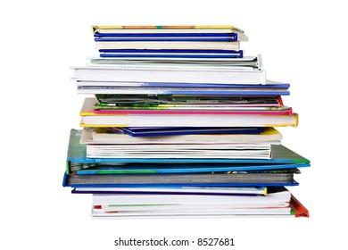 Pile of child books
