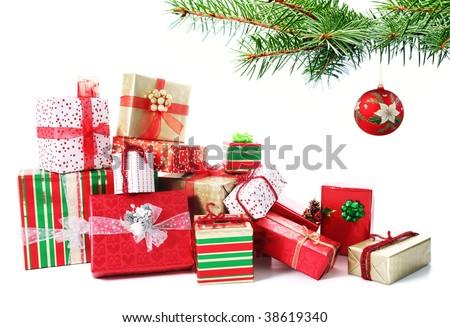 Colorful christmas gifts