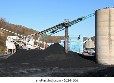 Pile of coal at a mine.