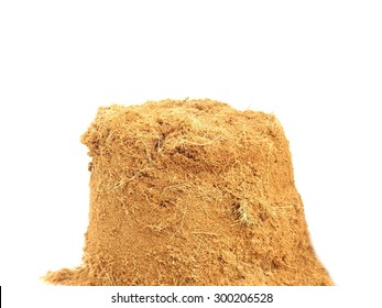 Pile of coconut dust isolated on white background