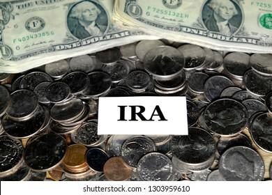 Pile of coins money representing retirement fun invest savings college IRA