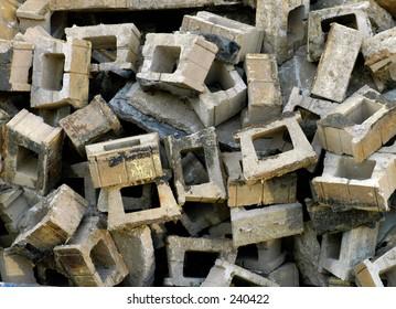 pile of construction trash