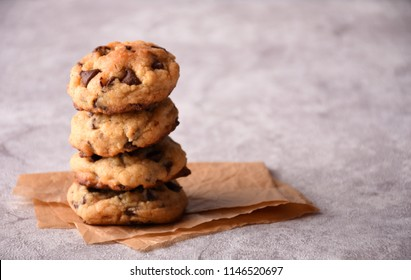 Pile of cookies on a marble surface