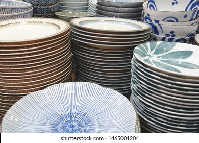 a pile of countless plates