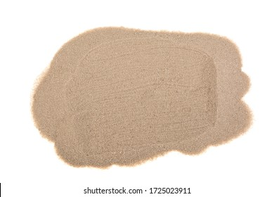 Pile desert sand dune isolated on white background, clipping path