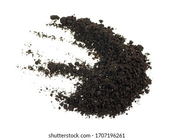 Pile dirt isolated on a white background, with clipping path.
