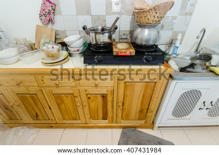 Pile Dirty Dishes Kitchen Stock Photo (Edit Now) 407431984 ... on unhealthy kitchen, unkept kitchen, funny back in the kitchen, restaurant kitchen, wet kitchen, ugly kitchen, used kitchen, artisan kitchen, unsanitary kitchen,