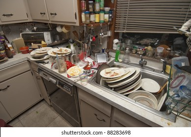 Messy Kitchen Images, Stock Photos & Vectors | Shutterstock