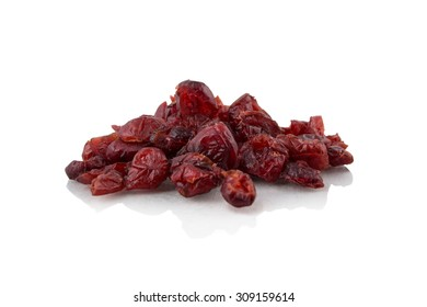 Pile of dried cranberries