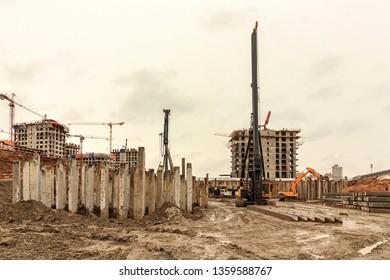Piling Equipment Images, Stock Photos & Vectors | Shutterstock