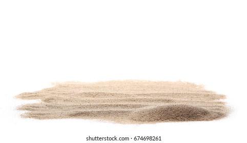 pile dry desert sand isolated on white background - Shutterstock ID 674698261