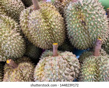 a pile of Durian fruits
