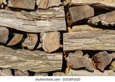 Pile of firewood. Background.
