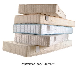 pile of mattresses.  Mattresses Pile Of Five New Mattresses Isolated On White And Of Mattresses T