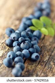 Pile of fresh blueberries,shallow focus