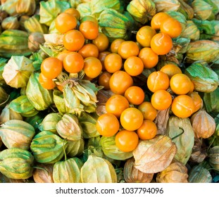 Pile of Fresh Cape Gooseberry