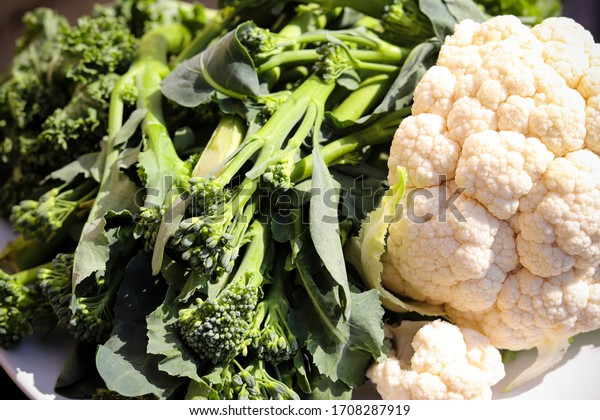 A pile of fresh green vegetables