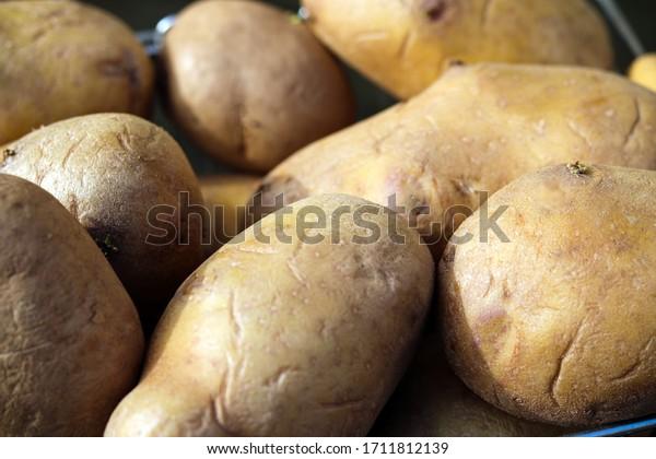 A pile of garden potatoes