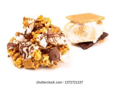 A Pile of Gourmet Smore Flavored Popcorn