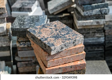 pile of granite texture -  marble layers design gray stone slab surface grain rock backdrop layout row industry construction