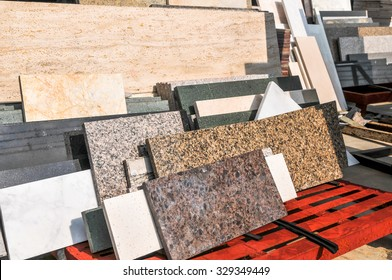 pile of granite texture - marble layers design gray stone slab surface grain rock backdrop layout industry construction
