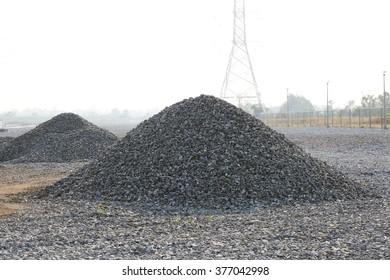 Pile of gravel.