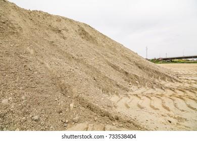 Pile of gravel outdoor