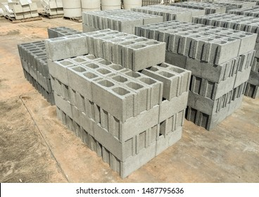 Pile of grey stone brick for sale in Thailand