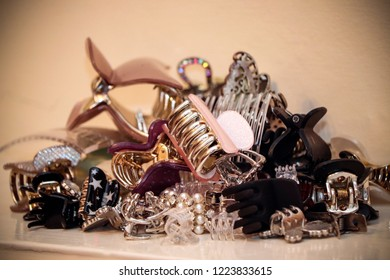 Pile of hair clips