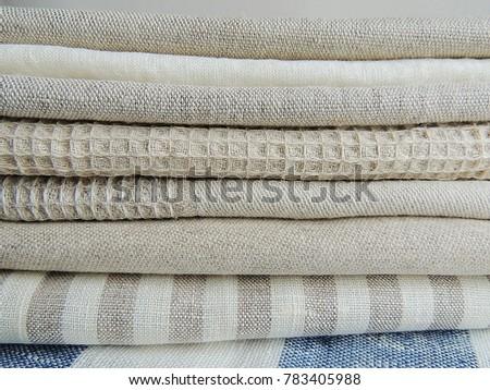dcf3f5d7339 Pile Handmade Waffle Linen Cotton Napkins Stock Photo (Edit Now ...