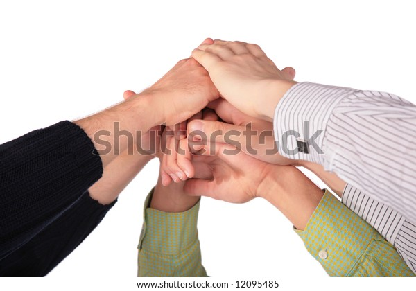 Pile of hands