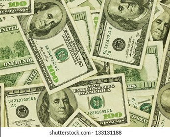 A Pile of Hundred Dollar Bills as a Money Background