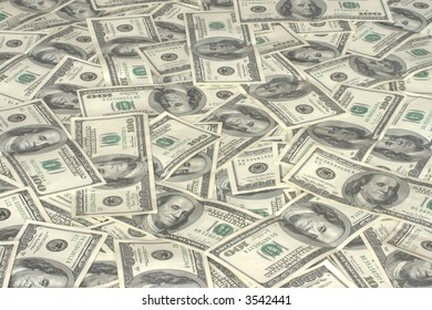 pile of hundred dollars bank notes